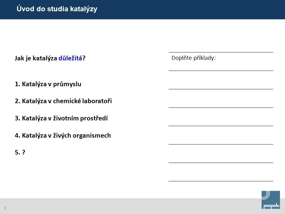 Teorie a pojmy v katalýze Úvod do studia katalýzy 14