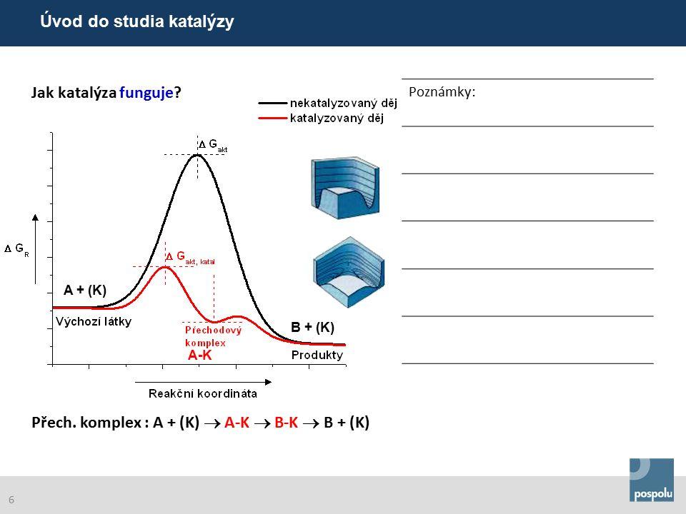 Poznámky: Při zvýšení teploty o 10° vzroste reakční rychlost v průměru 2–3x.