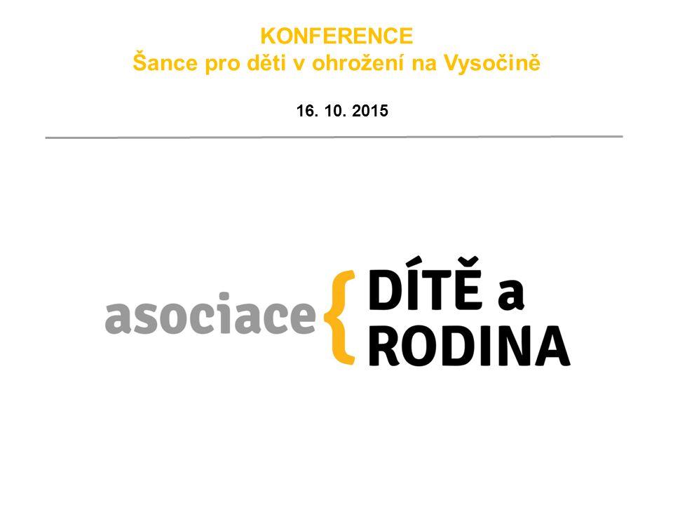 KONFERENCE Šance pro děti v ohrožení na Vysočině 16. 10. 2015