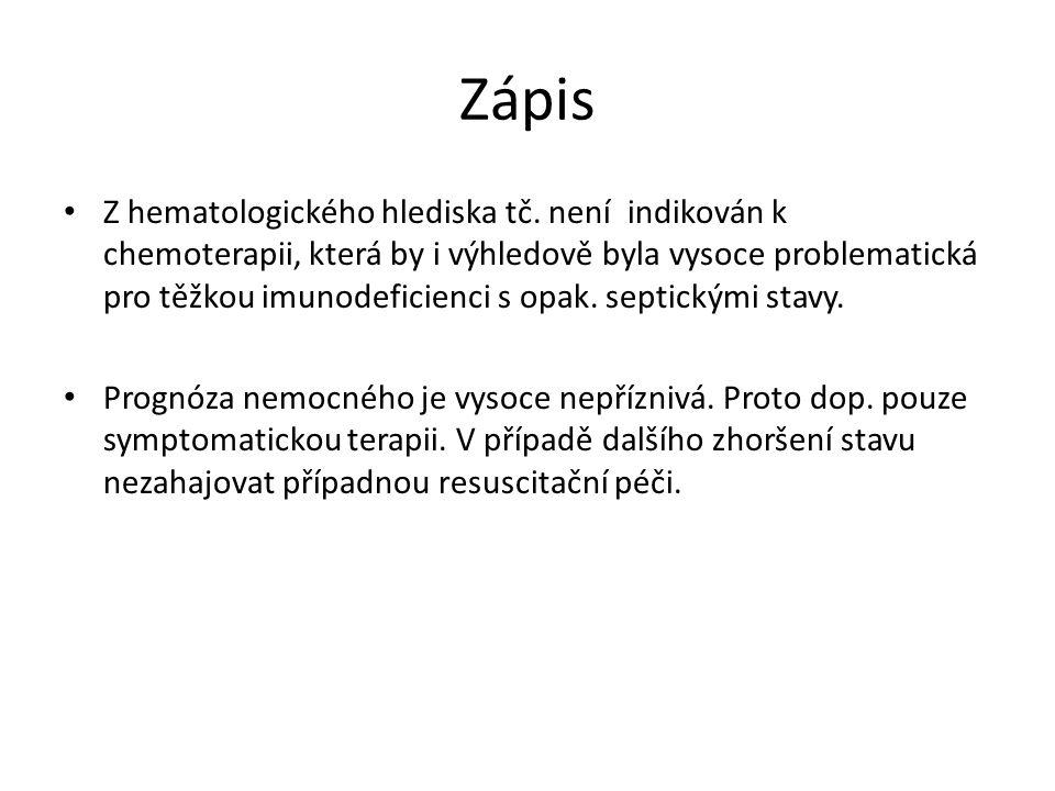 Zápis Z hematologického hlediska tč.
