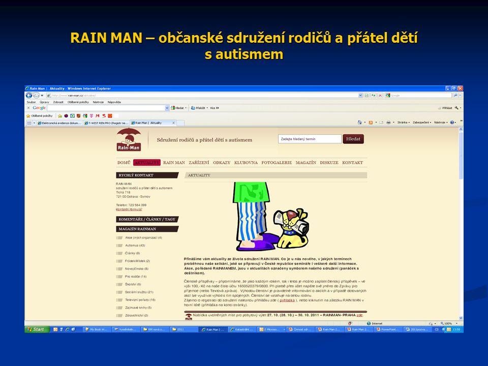 RAIN MAN – občanské sdružení rodičů a přátel dětí s autismem