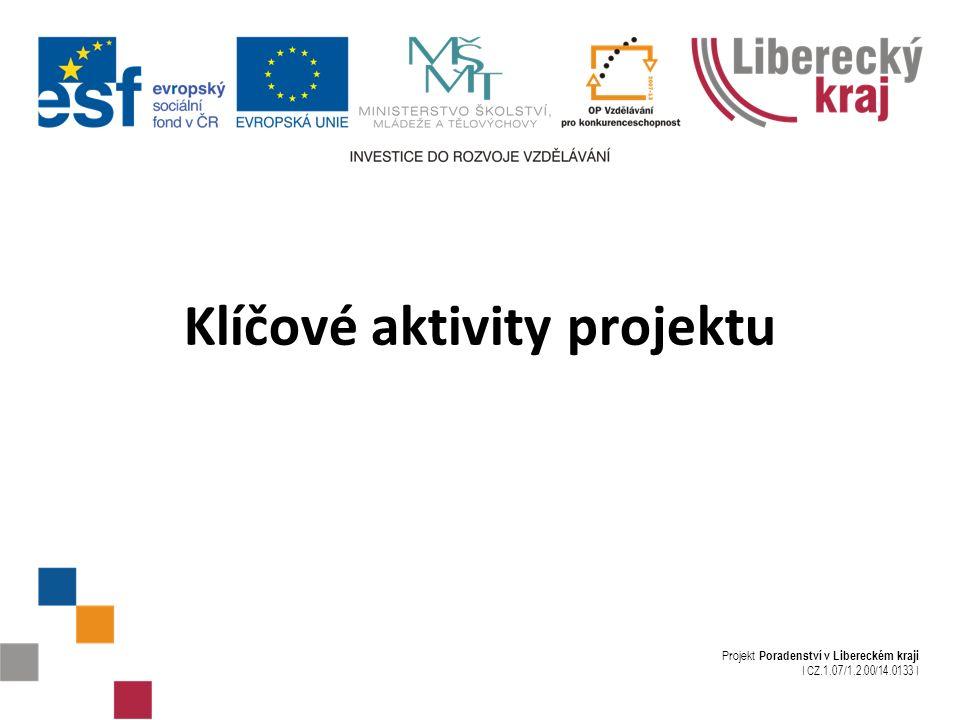 Projekt Poradenství v Libereckém kraji I CZ.1.07/1.2.00/14.0133 I Klíčové aktivity projektu