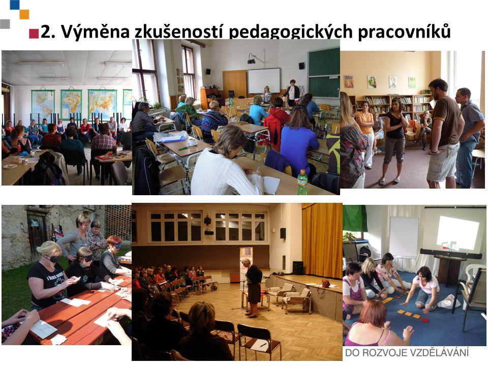2.Výměna zkušeností pedagogických pracovníků