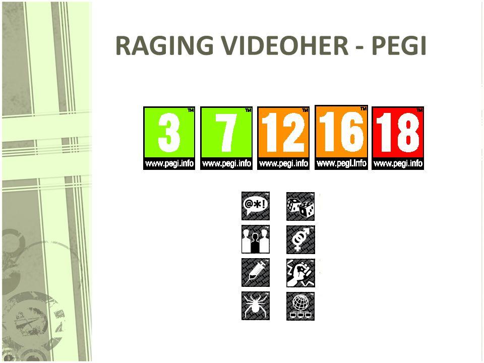RAGING VIDEOHER - PEGI