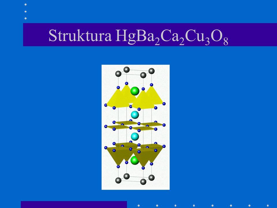 Struktura HgBa 2 Ca 2 Cu 3 O 8