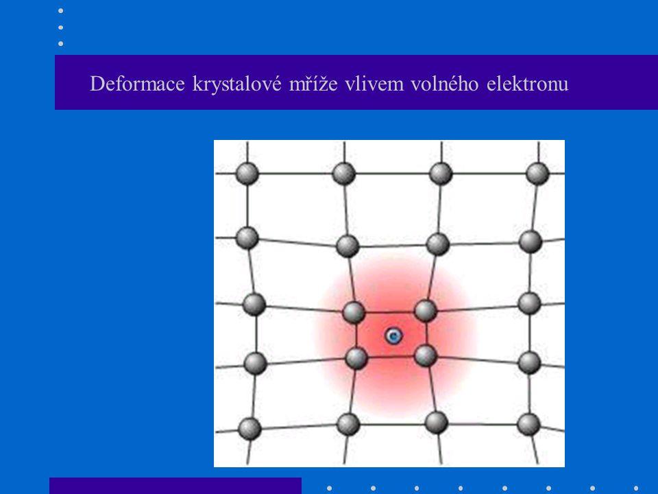Deformace krystalové mříže vlivem volného elektronu