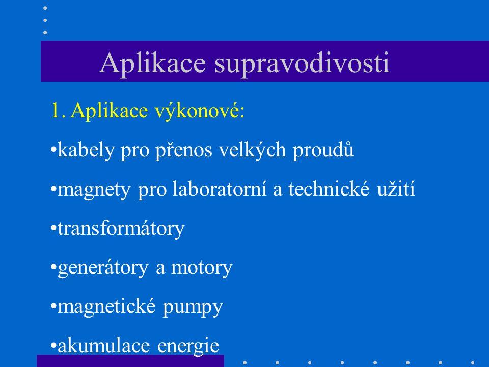 Aplikace supravodivosti 1.