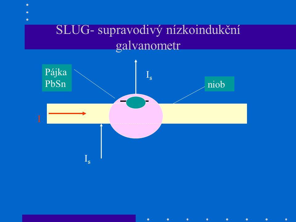 SLUG- supravodivý nízkoindukční galvanometr niob Pájka PbSn I IsIs IsIs