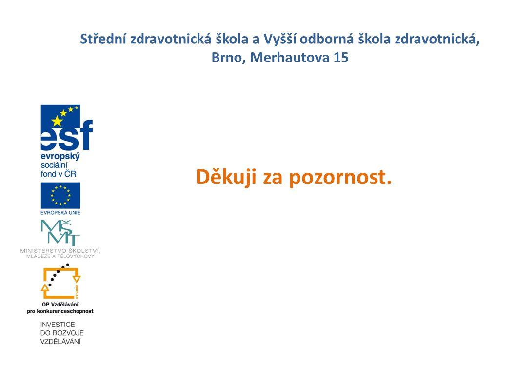 Střední zdravotnická škola a Vyšší odborná škola zdravotnická, Brno, Merhautova 15 Děkuji za pozornost.