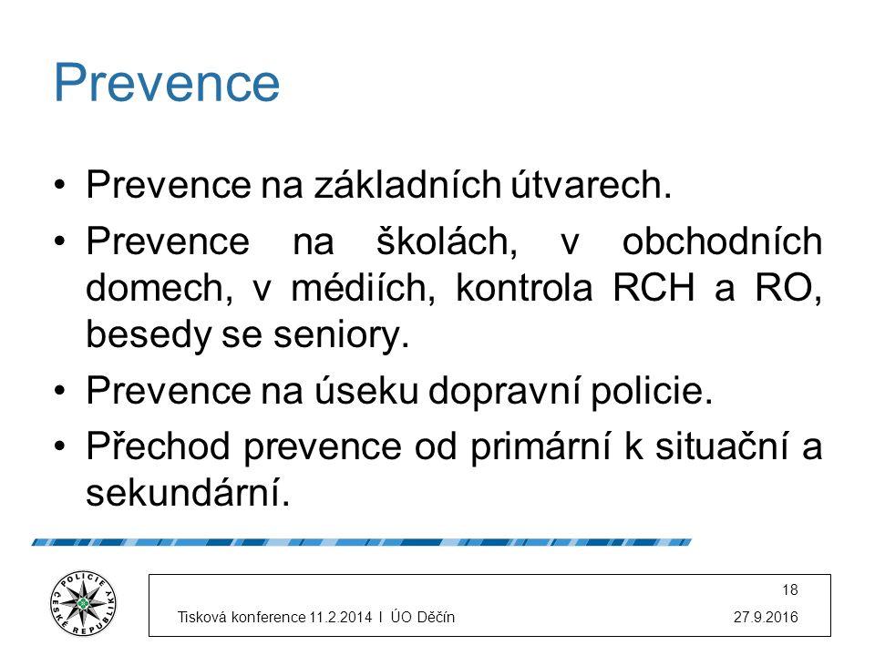Prevence Prevence na základních útvarech.