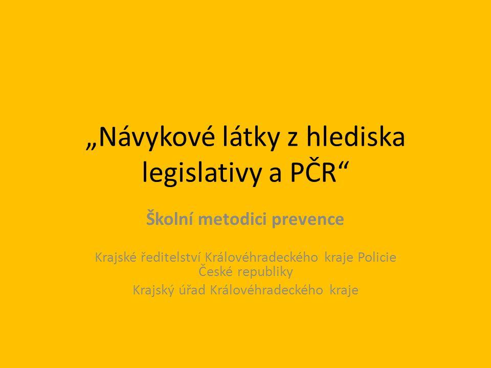 Omamné a psychotropní látky, jejich rozdělení, účinky a symptomy V Česku v posledních letech přibývá lidí, kteří mají vážný problém s užíváním drog.