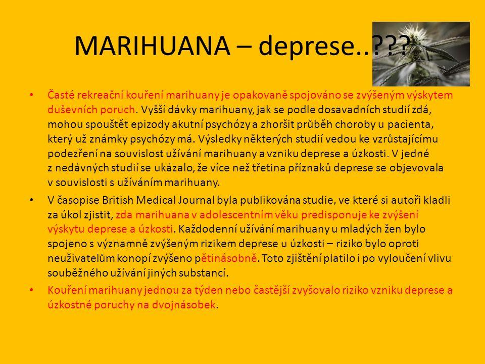 MARIHUANA – deprese.. .