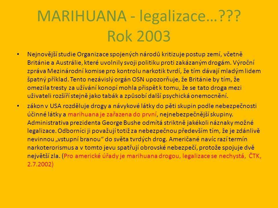 MARIHUANA - legalizace… .
