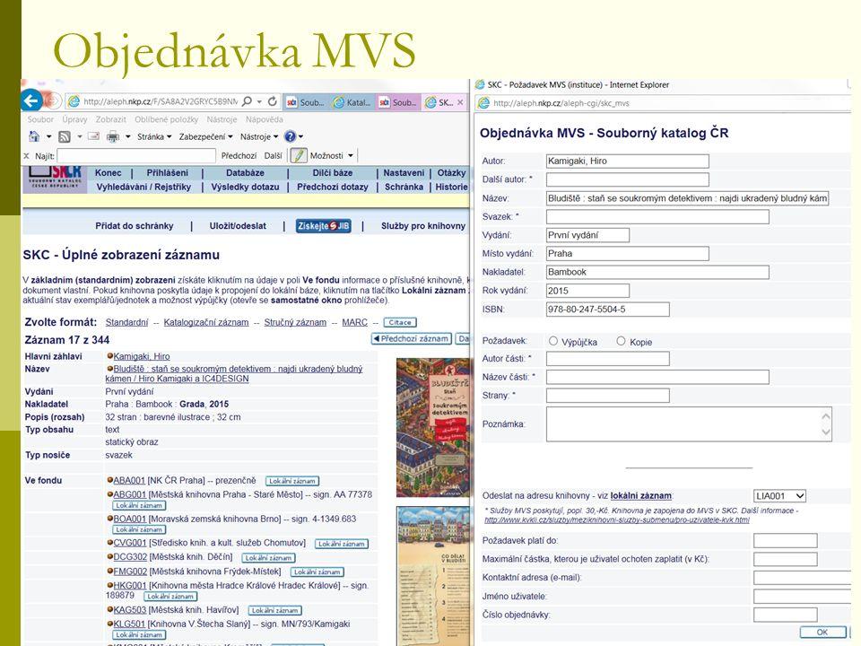 Objednávka MVS