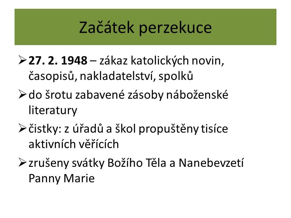 Začátek perzekuce  27. 2.