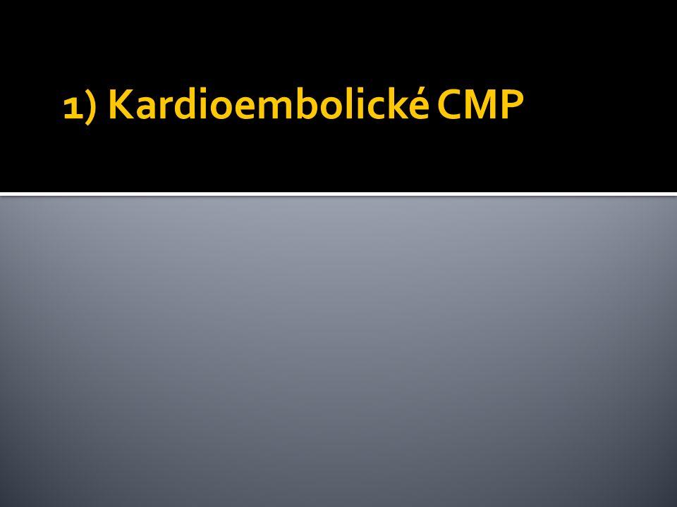 1) Kardioembolické CMP