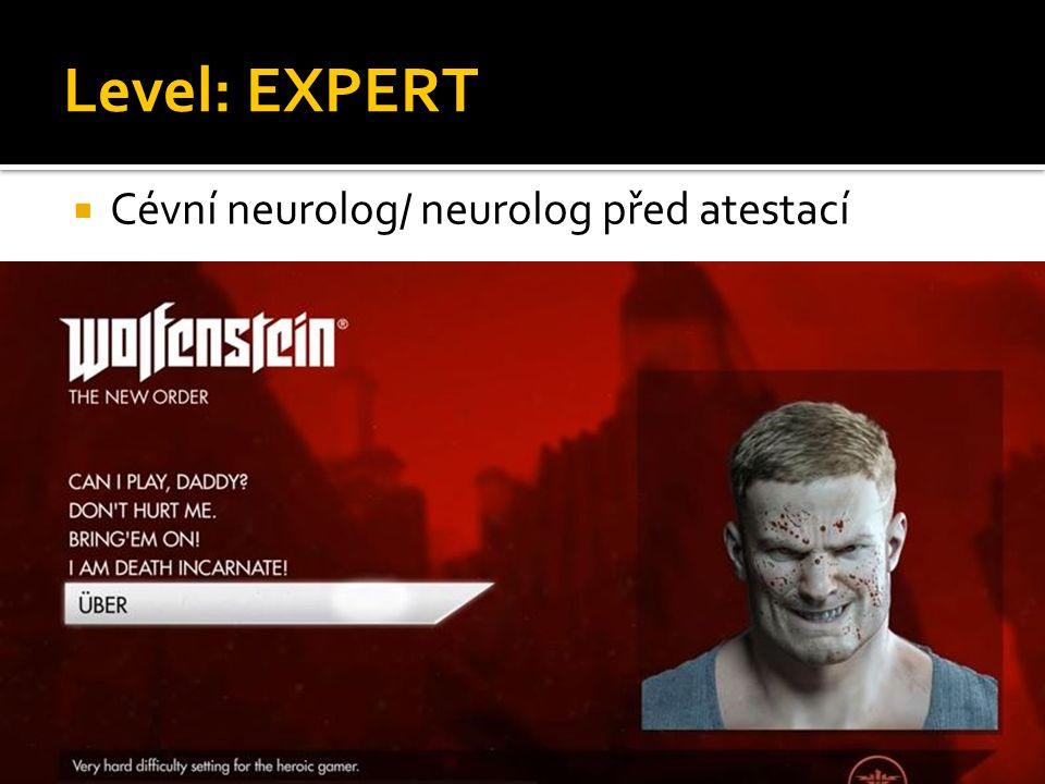 Level: EXPERT  Cévní neurolog/ neurolog před atestací