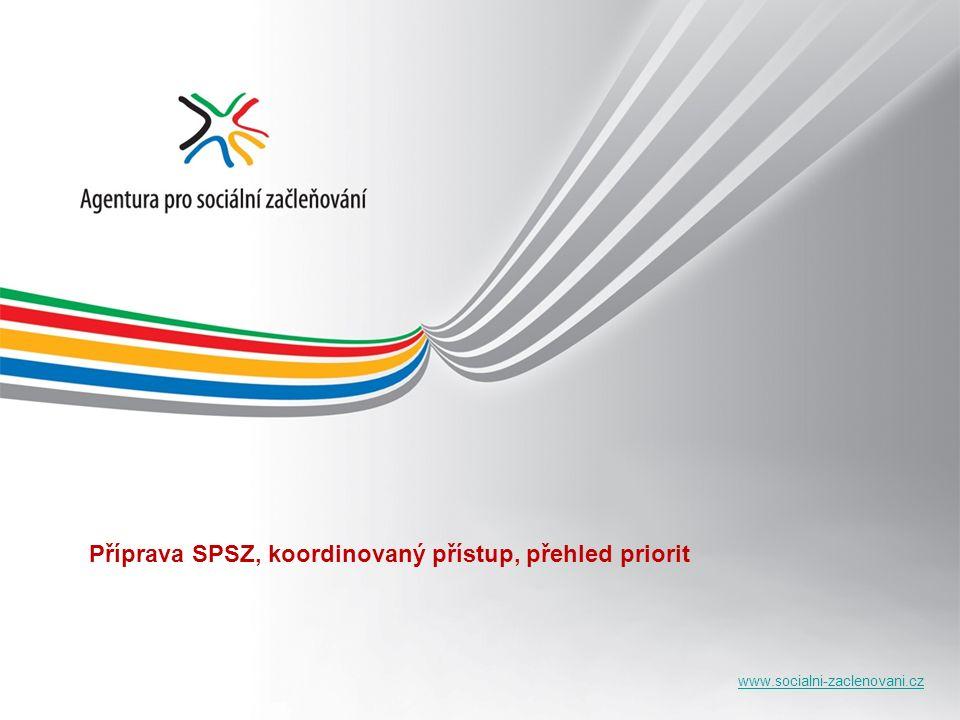 www.socialni-zaclenovani.cz Příprava SPSZ, koordinovaný přístup, přehled priorit