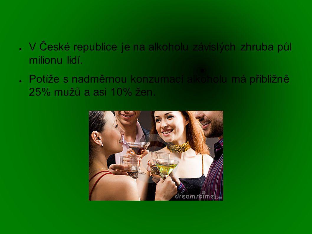 ● V České republice je na alkoholu závislých zhruba půl milionu lidí.