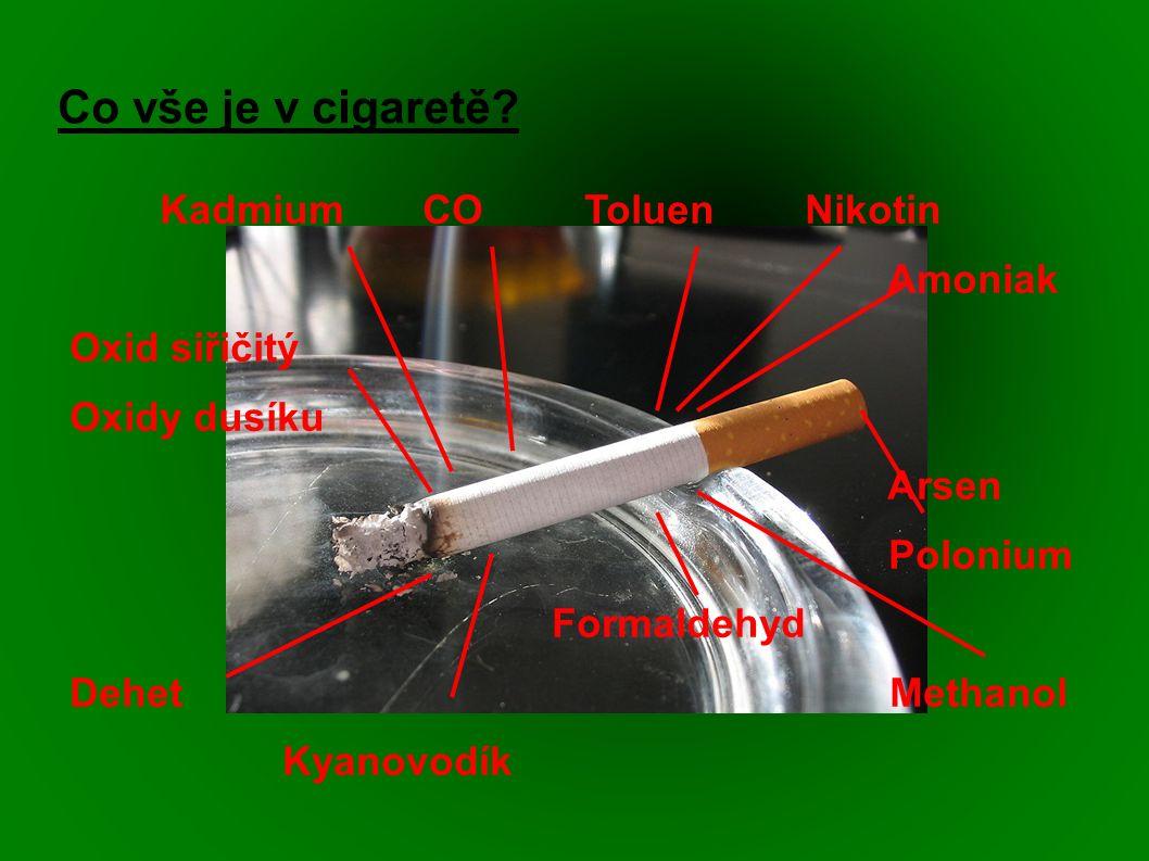 Co vše je v cigaretě.