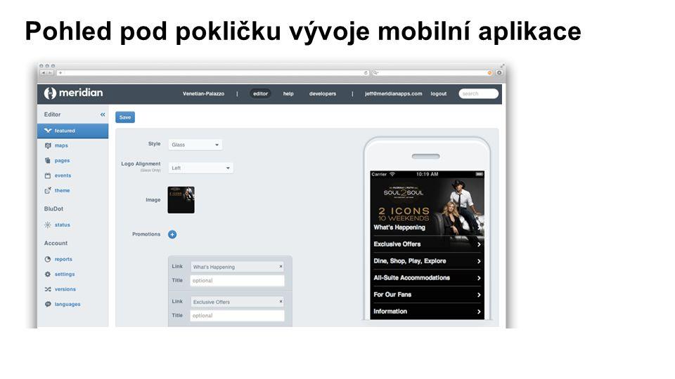 Pohled pod pokličku vývoje mobilní aplikace