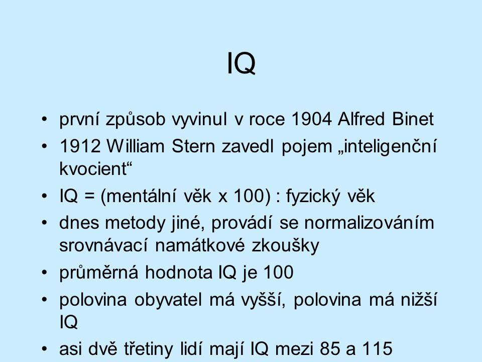 IQ nevypovídá nic o schopnosti řešit komplexní problémy př.