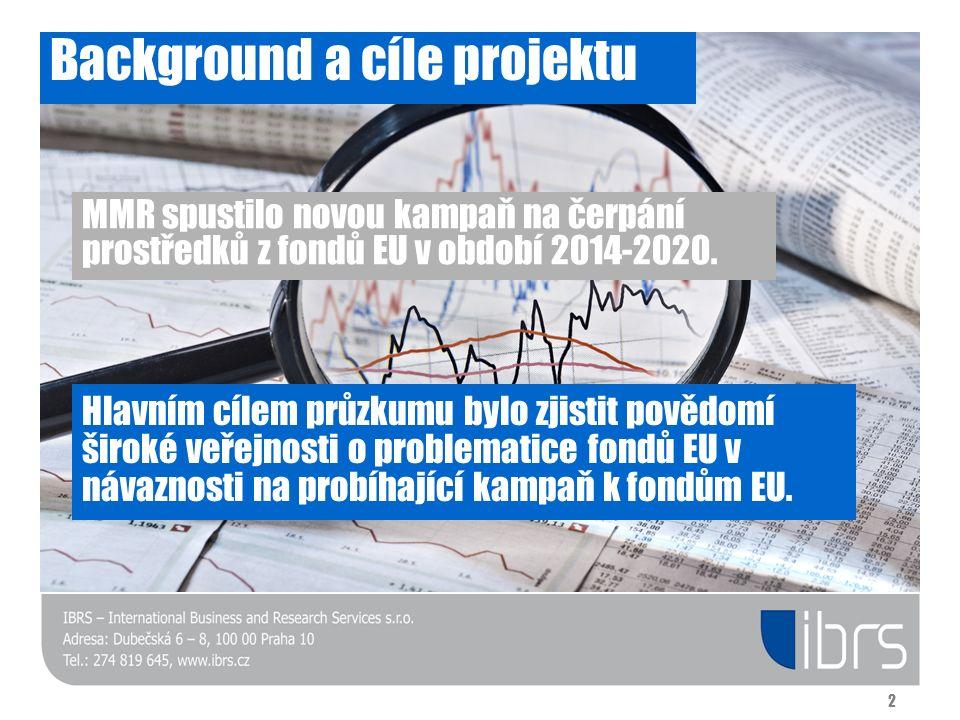 Background a cíle projektu MMR spustilo novou kampaň na čerpání prostředků z fondů EU v období 2014-2020. Hlavním cílem průzkumu bylo zjistit povědomí