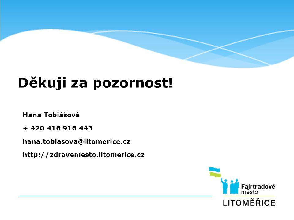 Děkuji za pozornost! Hana Tobiášová + 420 416 916 443 hana.tobiasova@litomerice.cz http://zdravemesto.litomerice.cz