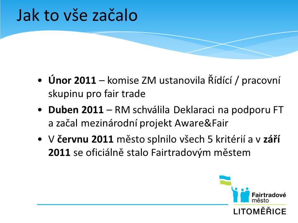 Únor 2011 – komise ZM ustanovila Řídící / pracovní skupinu pro fair trade Duben 2011 – RM schválila Deklaraci na podporu FT a začal mezinárodní projek