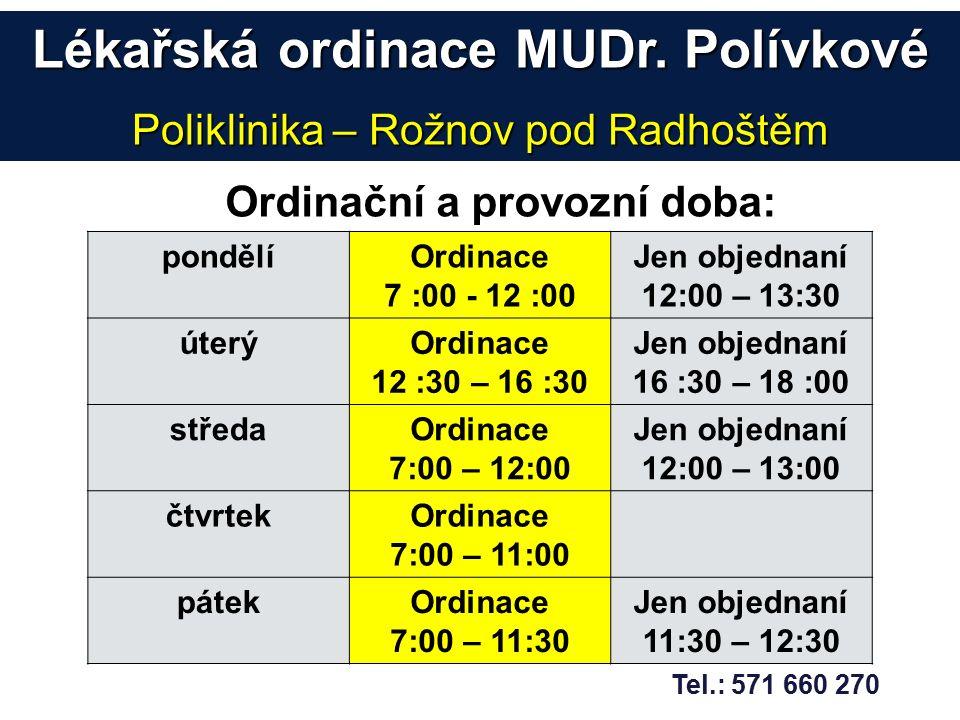 Lékařská ordinace MUDr.