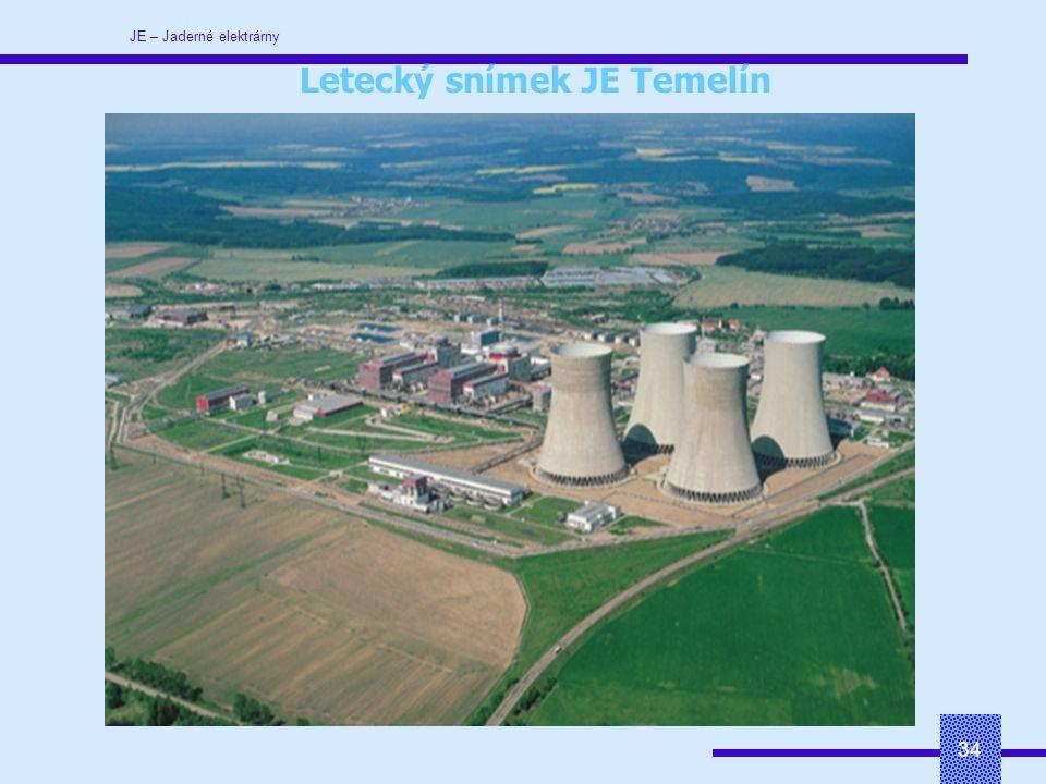 JE – Jaderné elektrárny 34 Letecký snímek JE Temelín