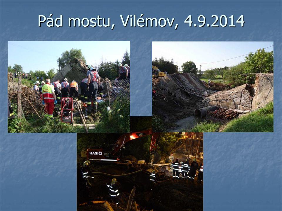 Pád mostu, Vilémov, 4.9.2014