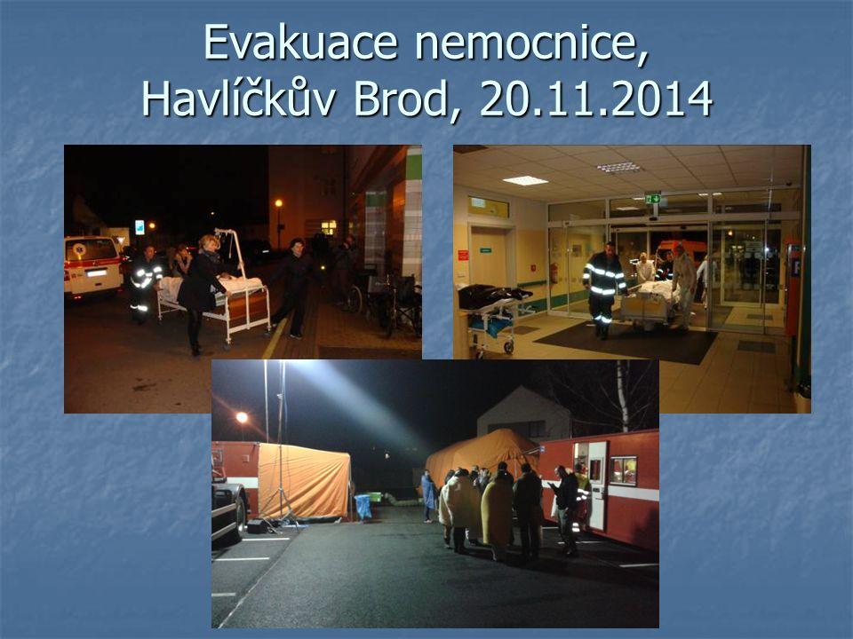 Evakuace nemocnice, Havlíčkův Brod, 20.11.2014