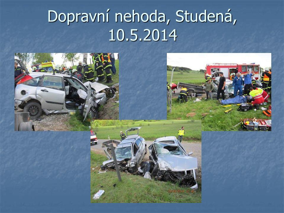 Dopravní nehoda, Studená, 10.5.2014
