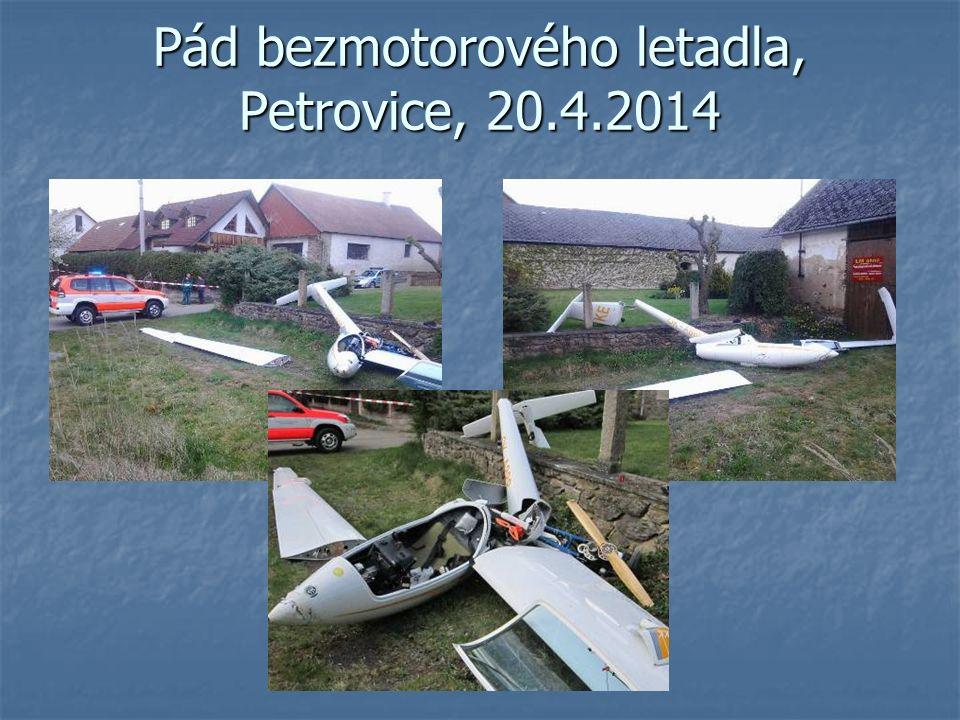 Pád bezmotorového letadla, Petrovice, 20.4.2014