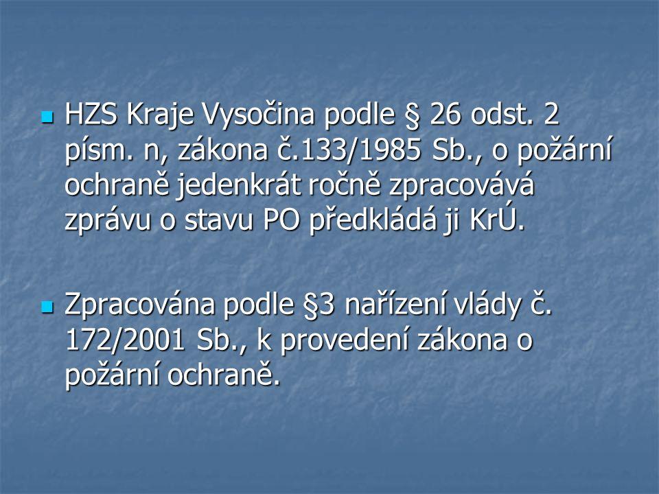 HZS Kraje Vysočina podle § 26 odst. 2 písm.
