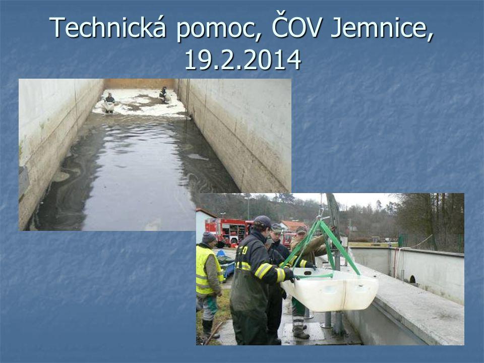 Technická pomoc, ČOV Jemnice, 19.2.2014
