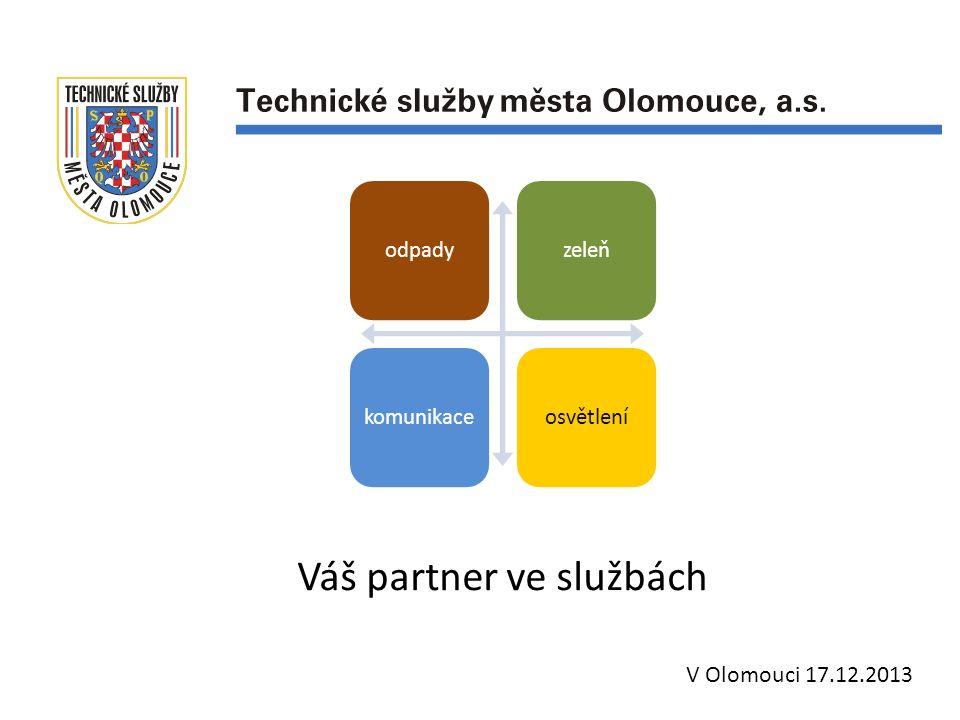 Váš partner ve službách V Olomouci 17.12.2013 odpadyzeleňkomunikaceosvětlení