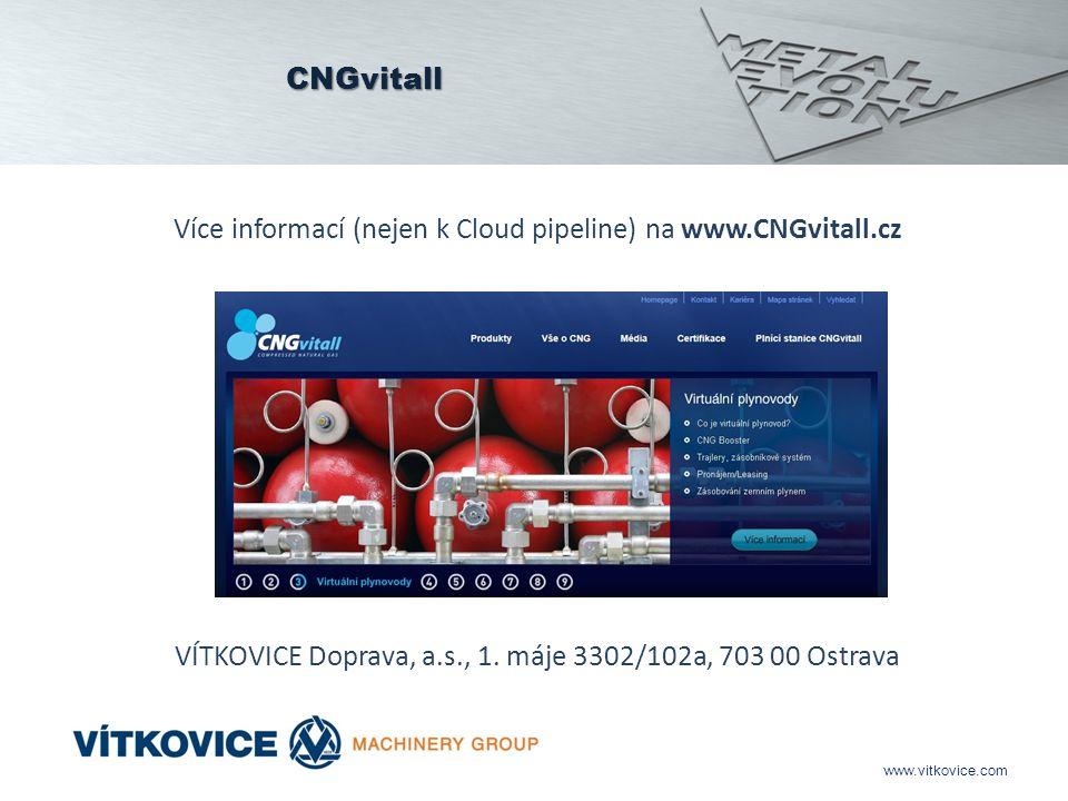 www.vitkovice.com CNGvitall Více informací (nejen k Cloud pipeline) na www.CNGvitall.cz VÍTKOVICE Doprava, a.s., 1.
