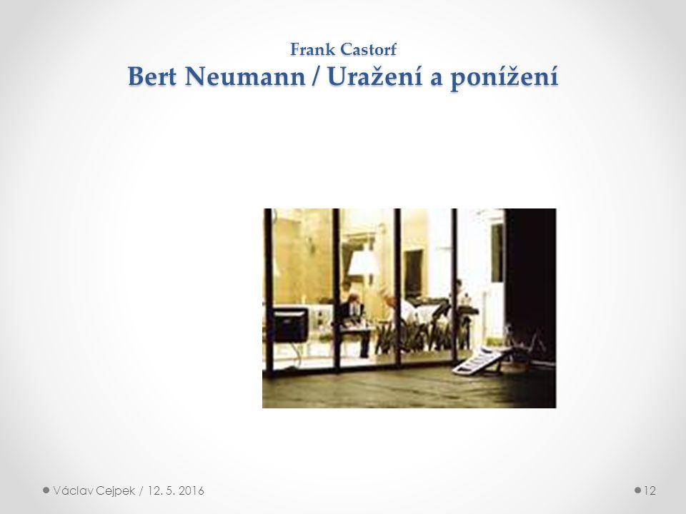 Frank Castorf Bert Neumann / Uražení a ponížení Václav Cejpek / 12. 5. 201612