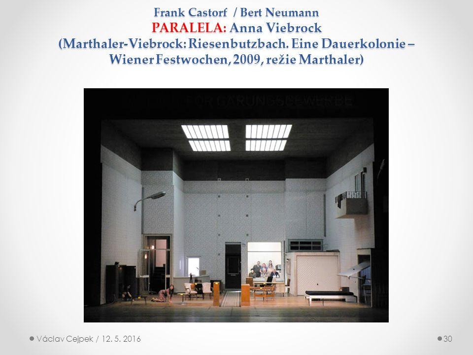 Frank Castorf / Bert Neumann PARALELA: Anna Viebrock (Marthaler-Viebrock: Riesenbutzbach.