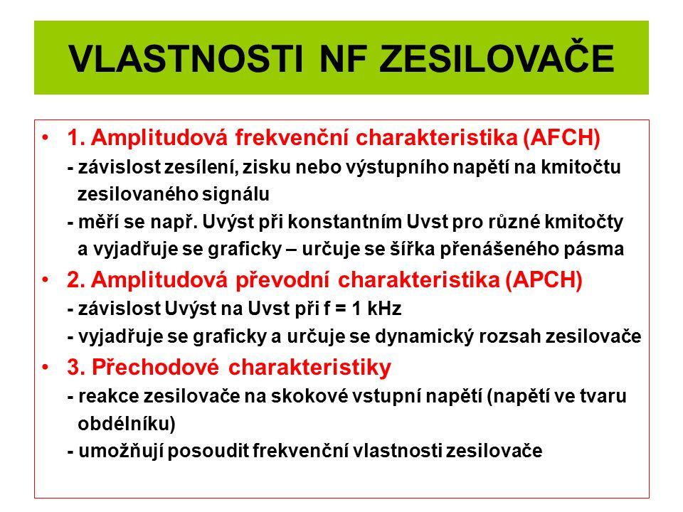 VLASTNOSTI NF ZESILOVAČE 1.