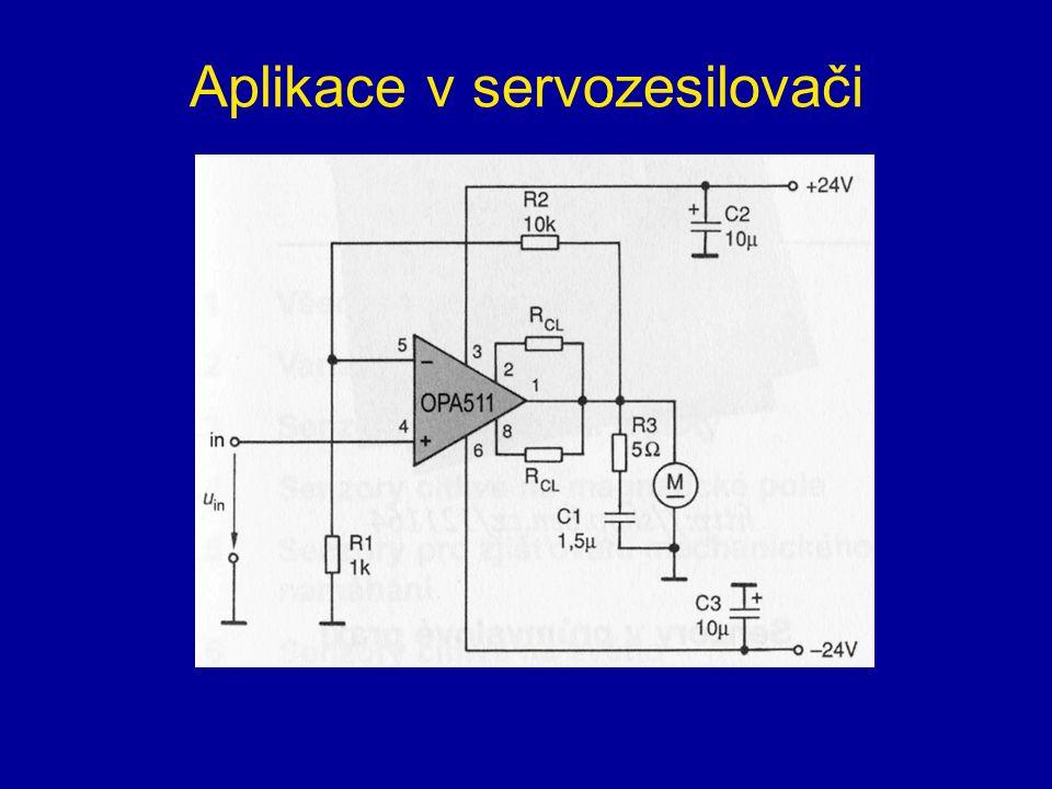 Aplikace v servozesilovači