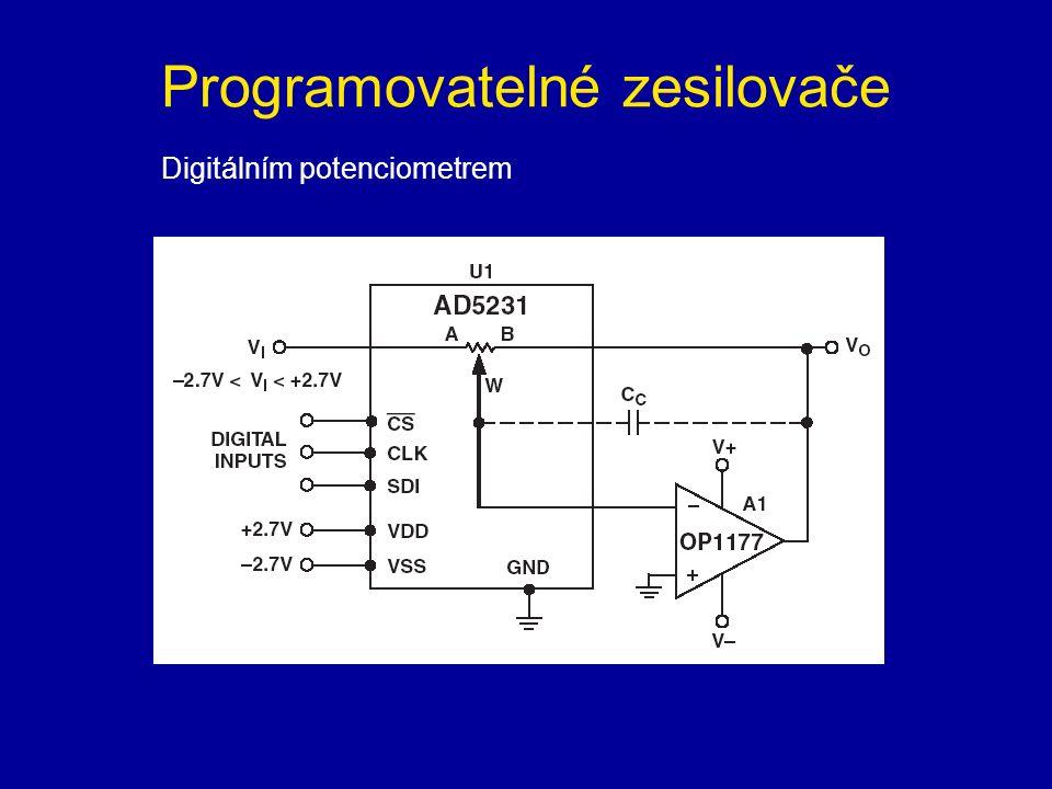 Programovatelné zesilovače Digitálním potenciometrem