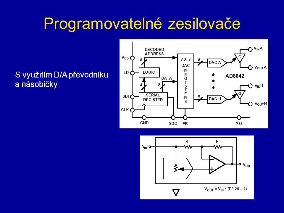 Programovatelné zesilovače S využitím D/A převodníku a násobičky