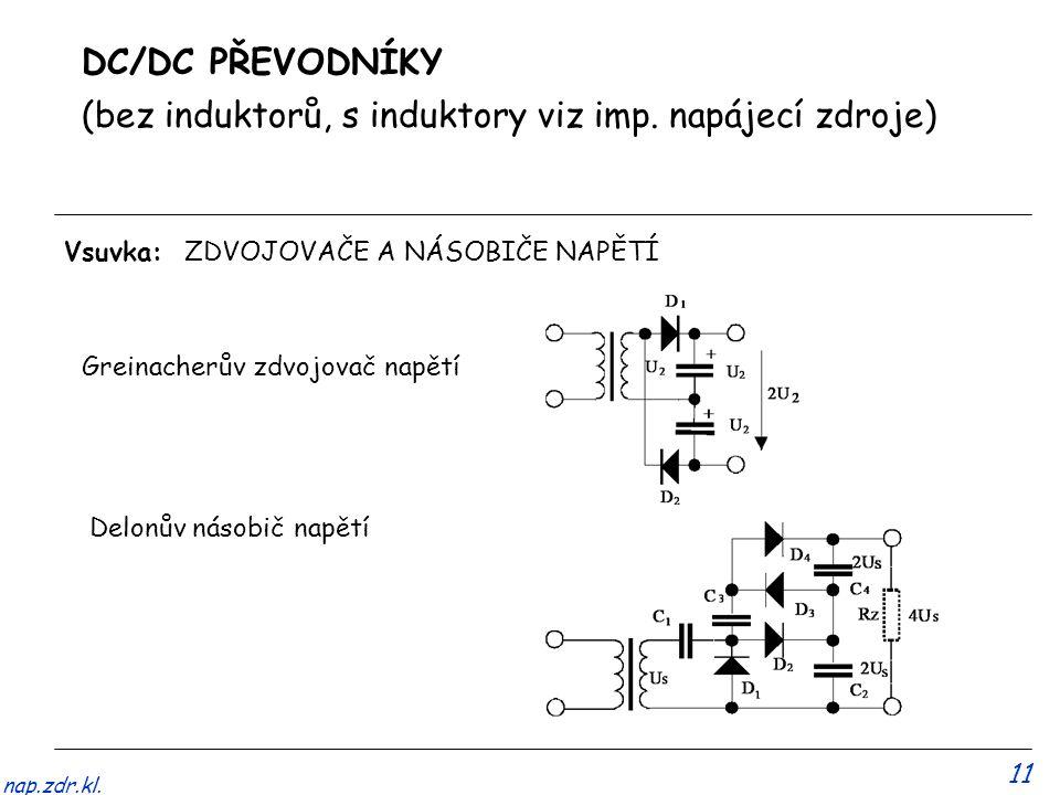 11 nap.zdr.kl.DC/DC PŘEVODNÍKY (bez induktorů, s induktory viz imp.