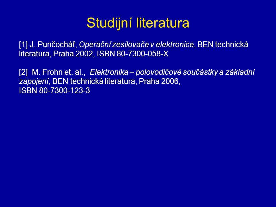 Studijní literatura [1] J.