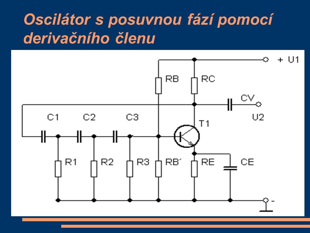 Oscilátor s posuvnou fází pomocí derivačního členu