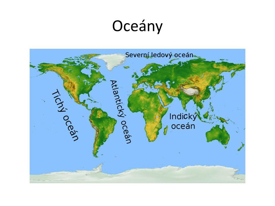 Rozdělení vodstva na Zemi 97% vody je v oceánech 1,5% vody je v ledovcích 1,5% vody je v močálech, jezerech, řekách a v podzemí Voda na Zemi je v neustálém oběhu 1/3 vody se vypaří 1/3 vody odteče z povrchu 1/3 vody se vsákne