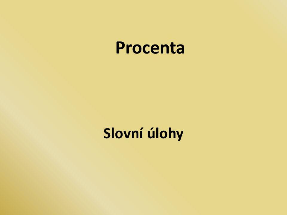 Procenta Slovní úlohy